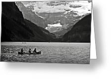 Kayak On Lake Louise Greeting Card