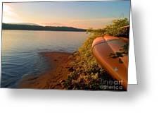 Kayak On The Hudson Greeting Card
