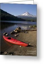 Kayak On Trillium Lake Greeting Card