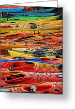 Kayak Spectrum Greeting Card