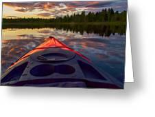 Kayak Sunset Greeting Card