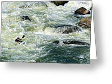 Kayaker Greeting Card