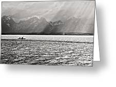 Kayakers On Jackson Lake Greeting Card
