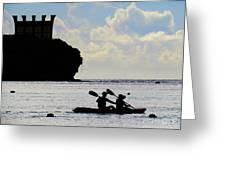 Kayaking Across The Bay Greeting Card