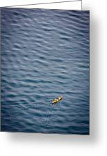 Kayaking Alone Greeting Card