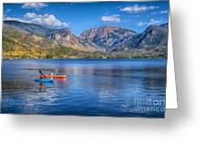 Kayaking Grand Lake Greeting Card
