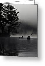 Kayaking In The Fog Greeting Card