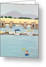 kayaking on Mandalay Greeting Card