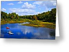 Kayaking The Moose River - Old Forge New York Greeting Card by David Patterson