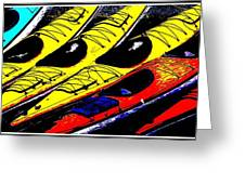 Kayaks Ashore Greeting Card