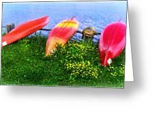 Kayaks At Lake Galena Greeting Card