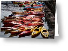 Kayaks At Rockport Greeting Card