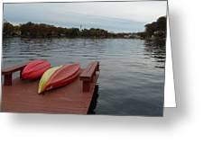 Kayaks By The Lake Nj Greeting Card