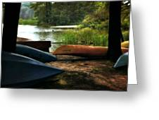 Kayaks On The Shore Greeting Card