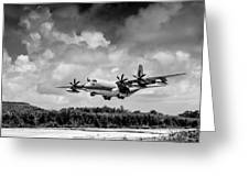 Kc-130 Approach Greeting Card
