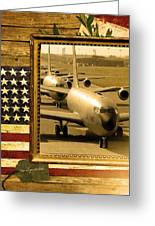 Kc-135 Stratotanker Rustic Flag Greeting Card