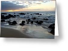 Keawakapu Kahaulani Maui Sunset Greeting Card