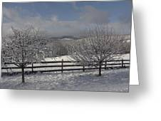 Kedron Valley After A Snow Greeting Card