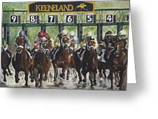 Keeneland Greeting Card