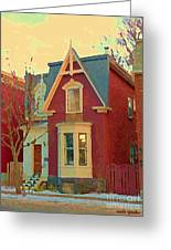 Keep A Light In The Window Til I Come Home Again Winter House Pointe St Charles City Scene Cspandau  Greeting Card