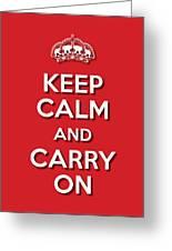Keep Calm 2 Red Greeting Card