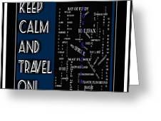 Keep Calm And Travel On Nova Scotia Crosswords Greeting Card