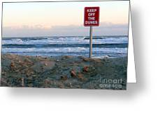 Keep Off The Dunes Greeting Card