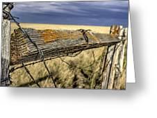 Keep The Gate Post Steady Greeting Card