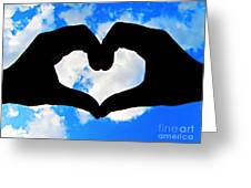 Keep Your Heart In The Clouds Greeting Card