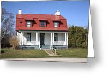 Keeper's House - Presque Isle Light Michigan Greeting Card