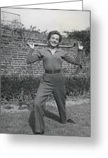 Keeping That Figure Trin And Youthful Eileen Fowler Shows Greeting Card