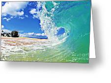 Keiki Beach Wave Greeting Card by Paul Topp