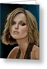 Keira Knightley Greeting Card by Paul Meijering