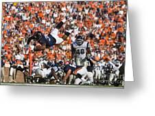 Keith Payne Superman Dive Virginia Cavaliers Football Greeting Card by Jason O Watson