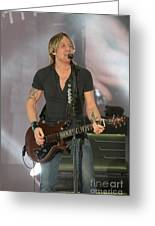 Musician Keith Urban Greeting Card