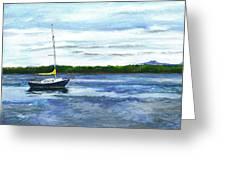 Kellogg's Bay Vt View Of Lake Champlain And Camel's Hump Greeting Card