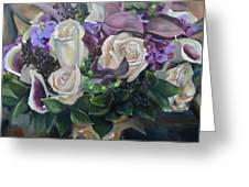 Kelly's Bridal Bouquet Greeting Card