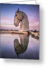 Kelpie At Dawn Greeting Card