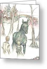 Kelpie Encounter Greeting Card