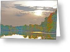 Kensington Autumn Sunset Greeting Card