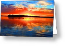 Kensington Sunset Greeting Card