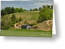 Kentucky Barn Quilt - Americana Star 2 Greeting Card