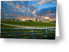 Kentucky Famous Horse Hotel Greeting Card