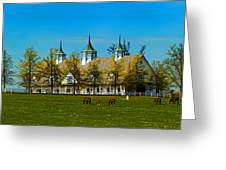 Kentucky Horse Barn Hotel Greeting Card