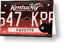 Kentucky License Plate Greeting Card