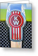 Kenworth Truck Emblem -1196c Greeting Card