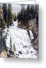 Kepler Cascades Yellowstone National Park Greeting Card