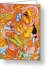 Kerala Fresco Mural Greeting Card