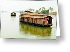 Kerala Houseboats Greeting Card