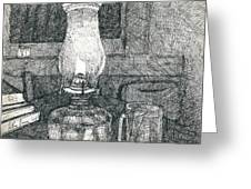 Kerosene Lamp Greeting Card